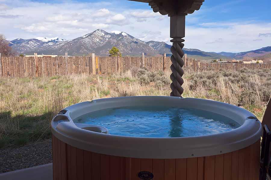 tequila sunrise taos hot tub taos vacation home rental